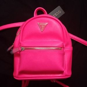 NEW w/Tags Hot Pink Guess Mini Backpack
